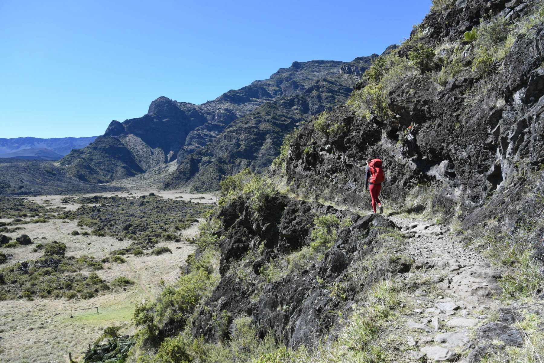 The Halemau'u Trail climbs the Haleakala Crater wall