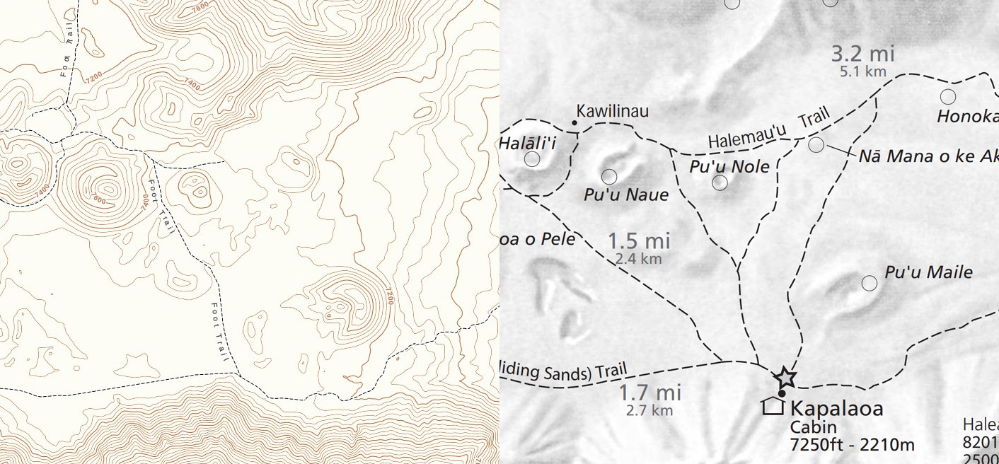 Trail maps for Haleakala National Park