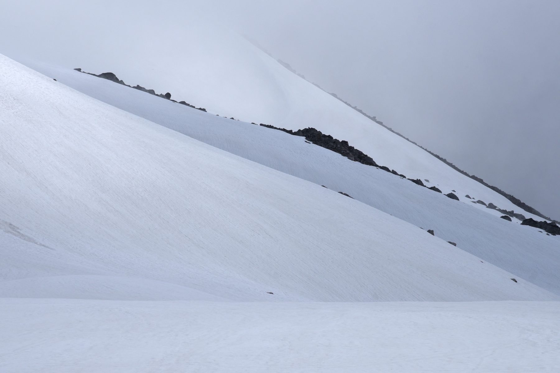 Abstract contours on Snowbird Glacier