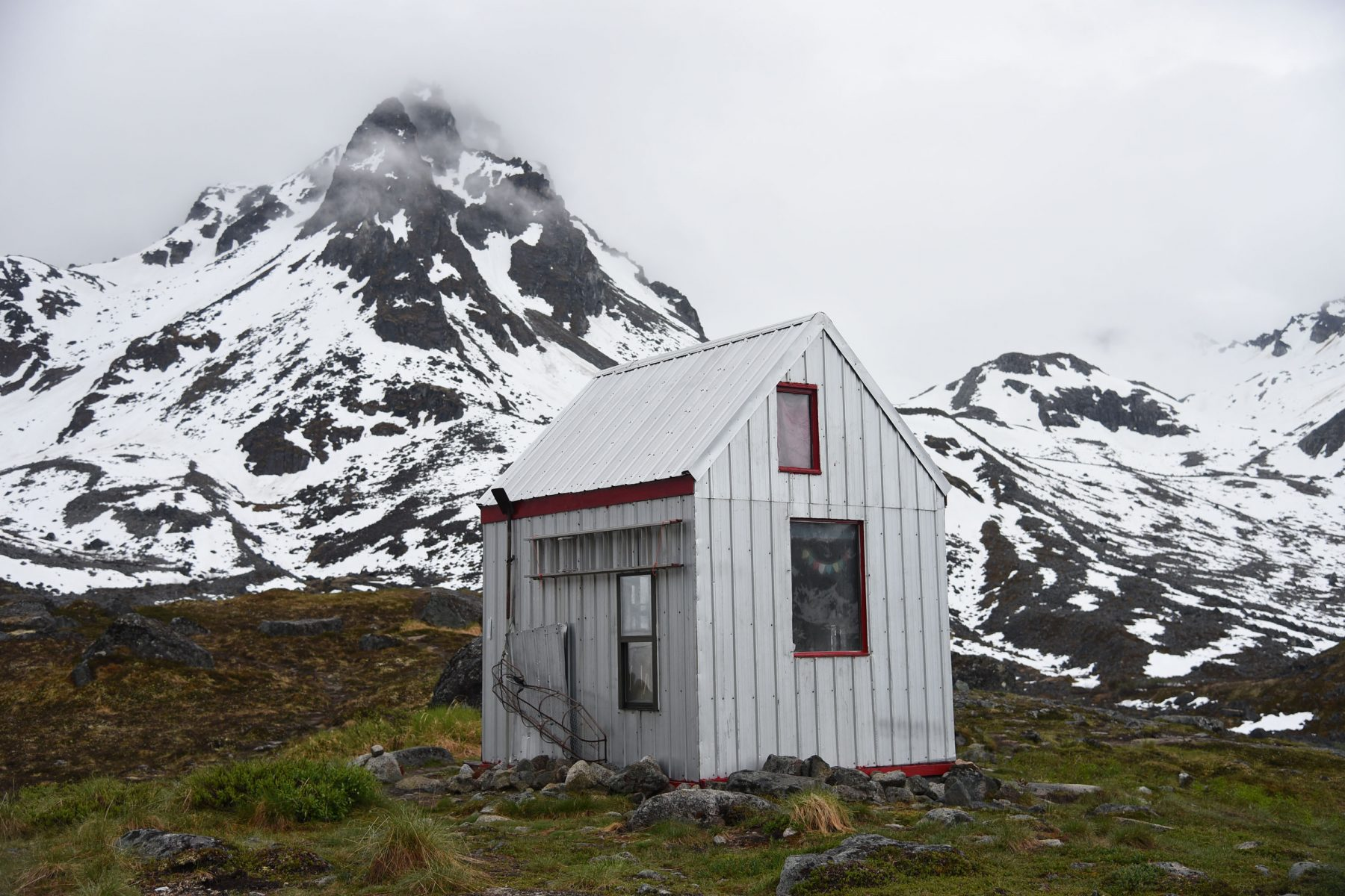 The Bomber Hut, the namesake hut of the Bomber Traverse