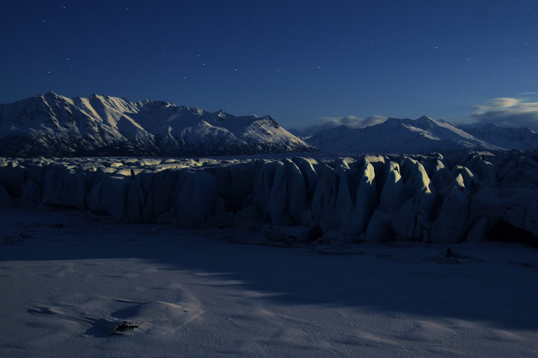 Night at Knik Glacier