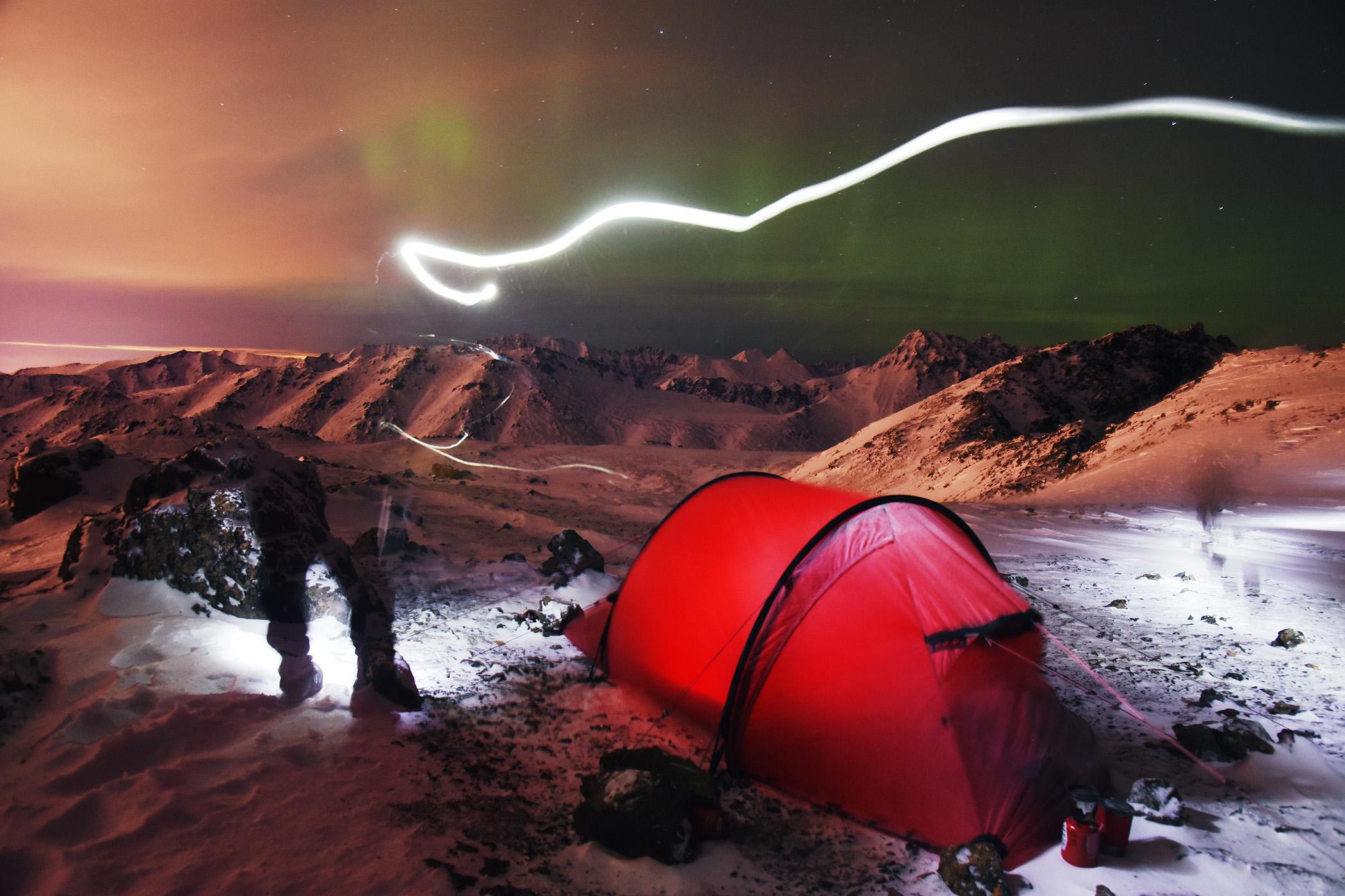 Hilleberg Nammatj 2 tent on the summit of McHugh Peak & Hilleberg Nammatj 2 tent review | Winterbear.com product reviews