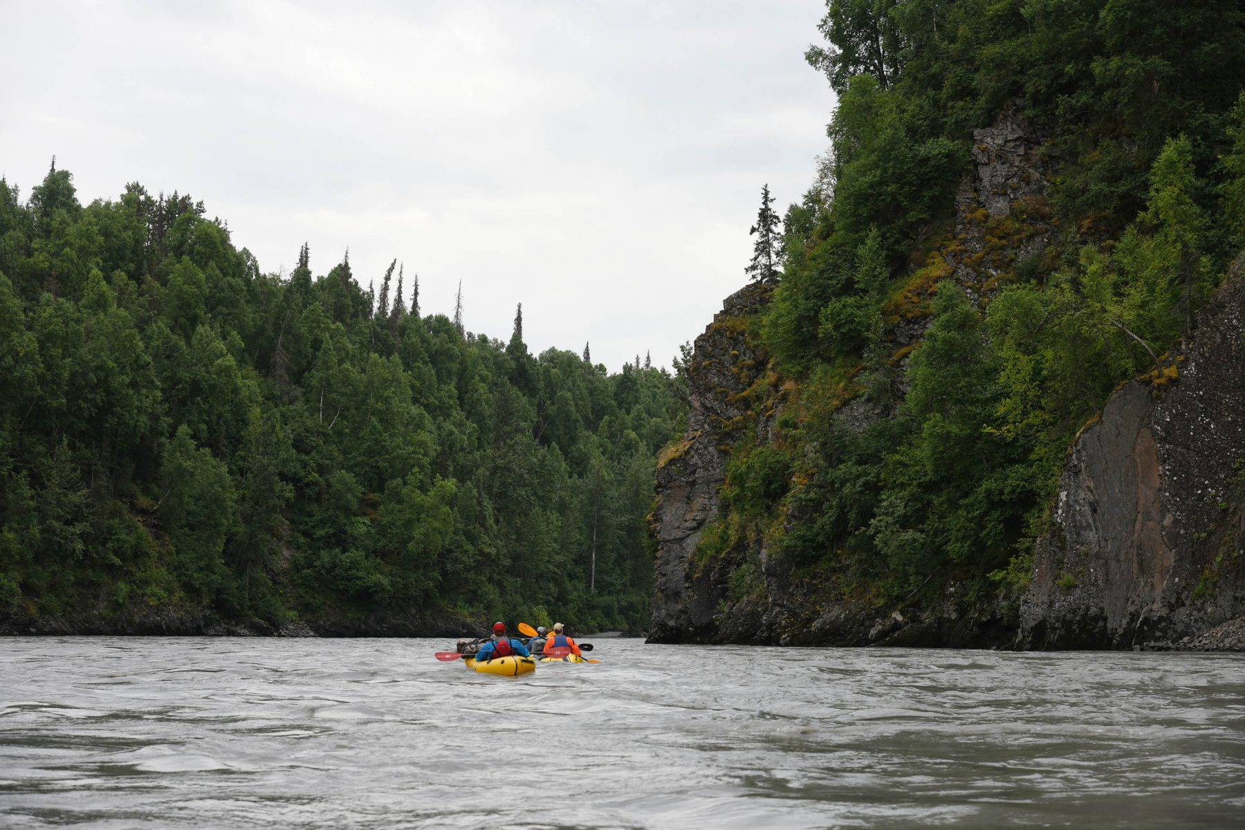 Packrafting the Chulitna Canyon