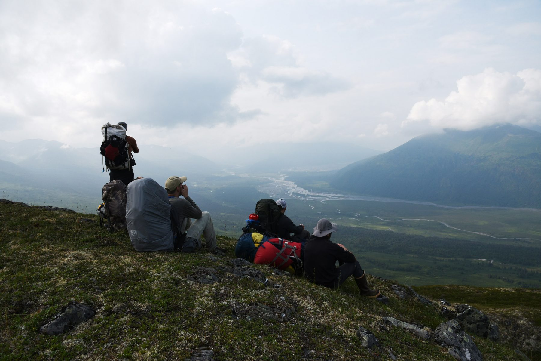 Overlooking the Tokositna River Valley