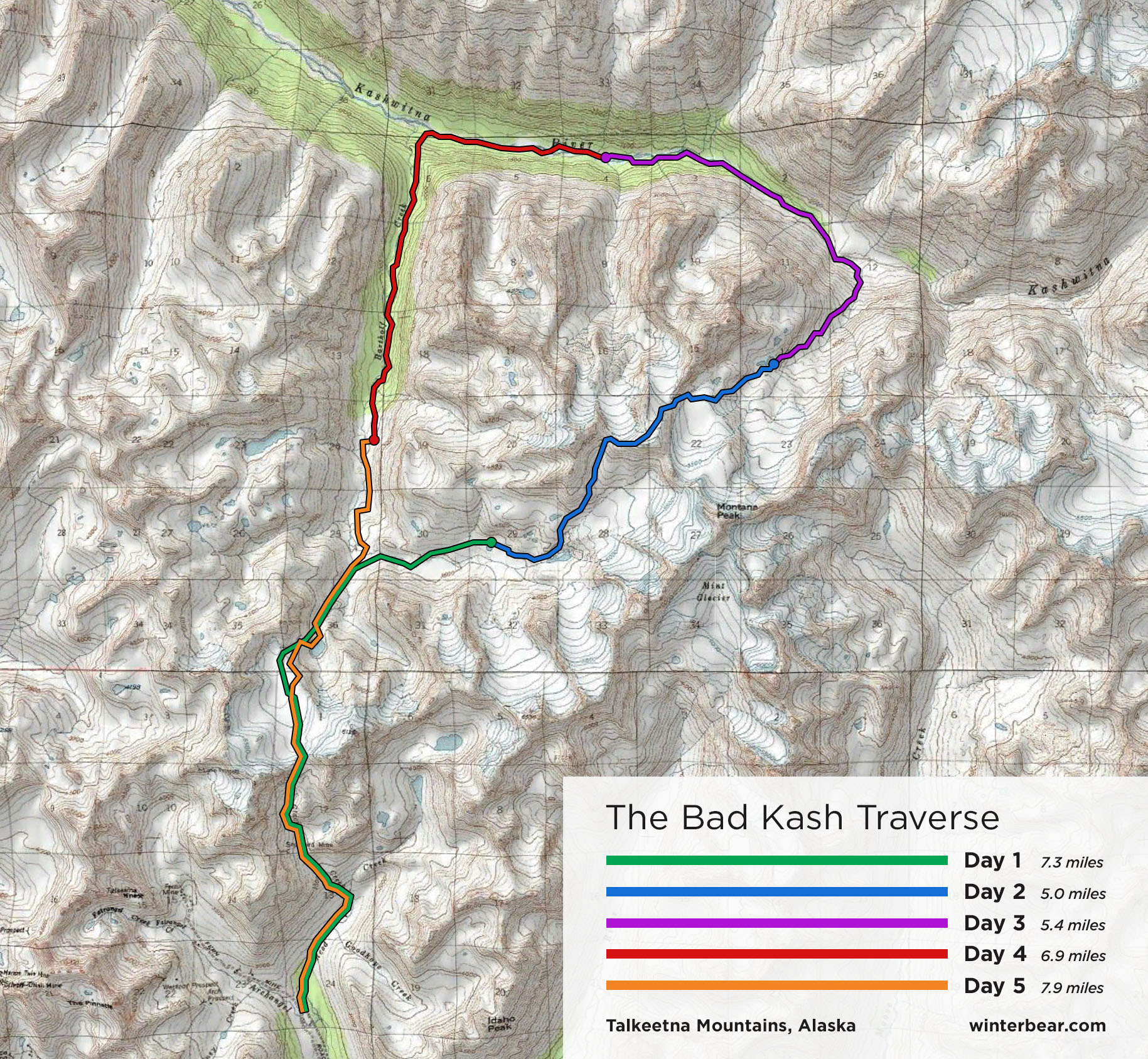 The Bad Kash route map